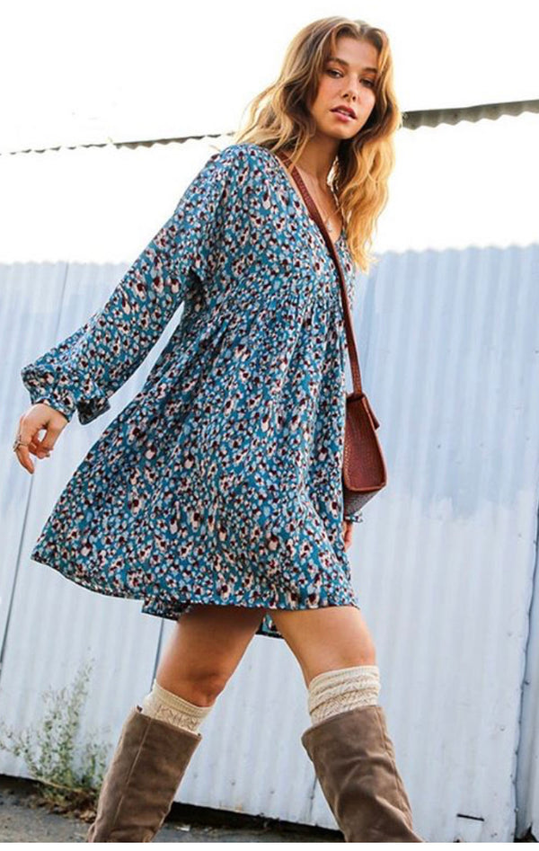 The Layla Print Swing Dress