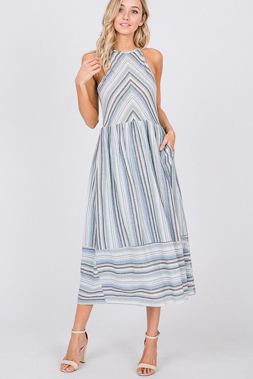 The Jill Striped Sun Dress