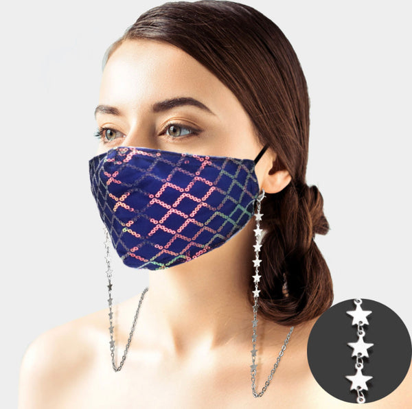 Silver Star Mask Chain