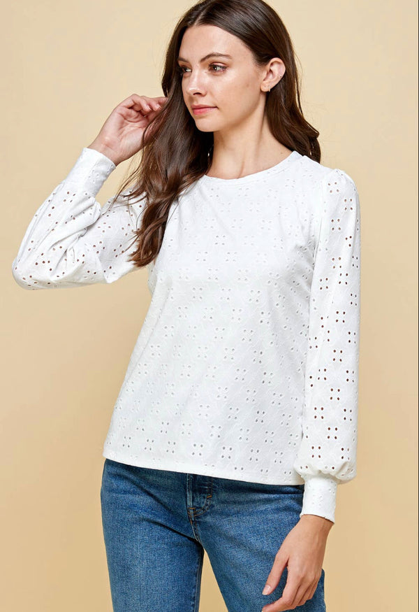 The Marilyn Eyelet Top