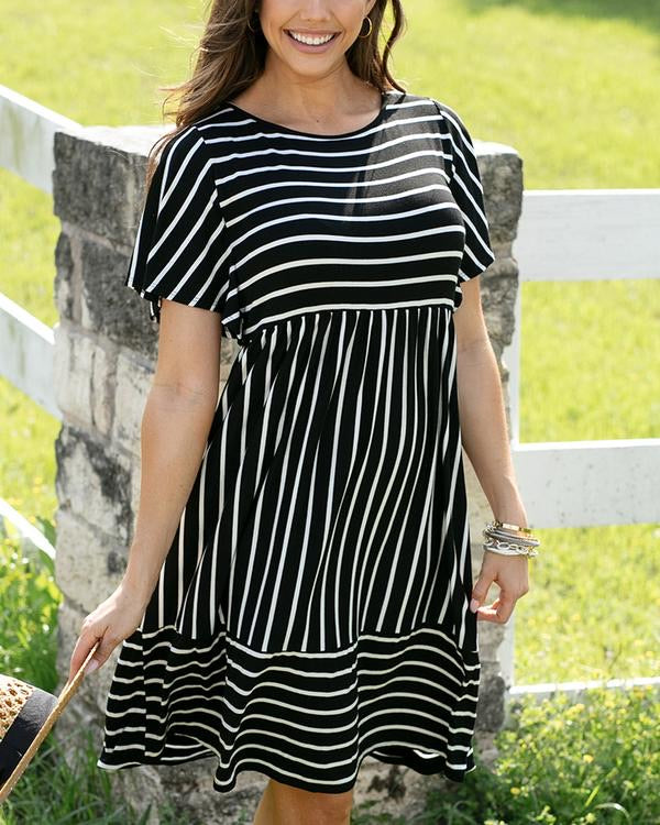 The Mila Striped Midi Dress