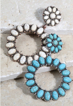 The Turquoise Statement Earrings