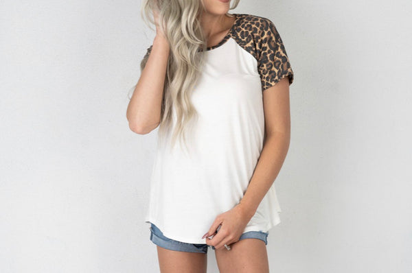 The Leopard Baseball Tee