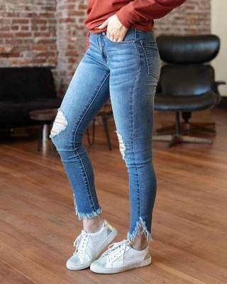 G&L Frayed Hem Jeggings