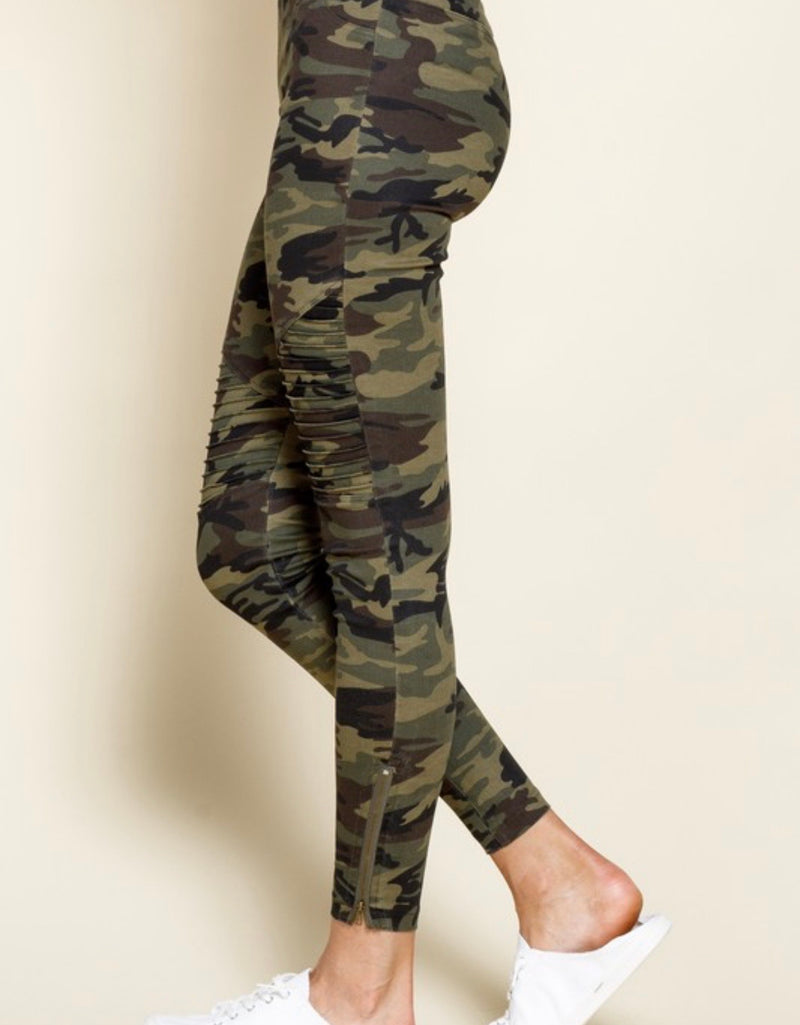 The GI Jane Camo Moto Leggings