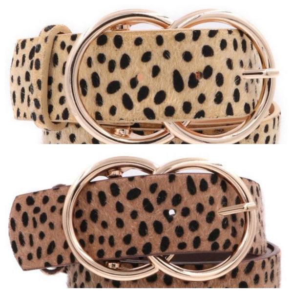 Inner Circle Cheetah Print Belt