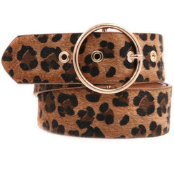 The Circle In Faux Fur Leopard Belt