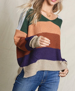 The Stepping Out in Stripes Sweater