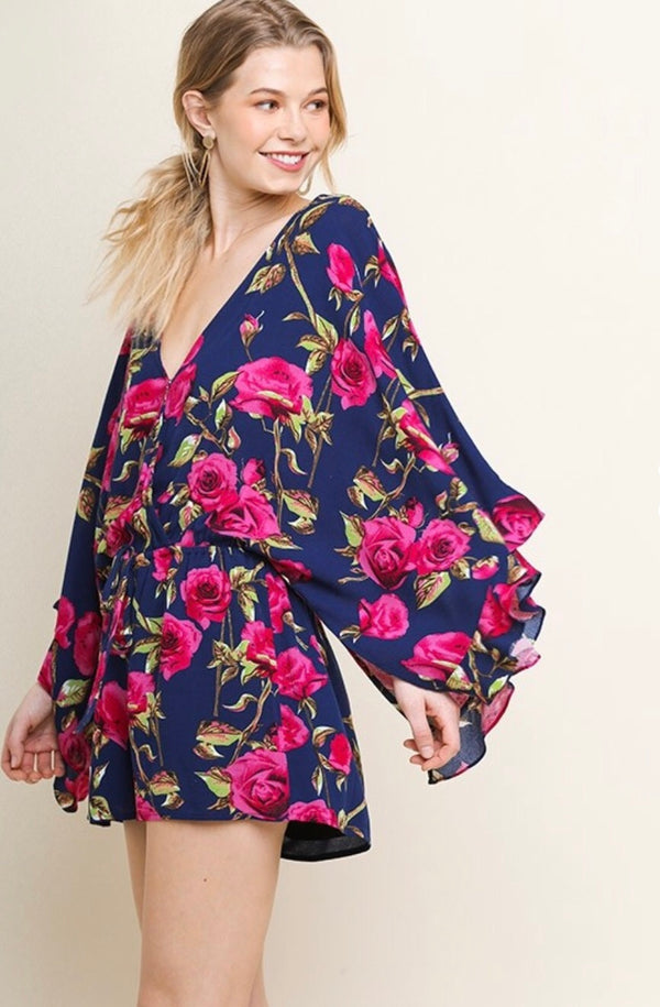 It's All Coming Up Roses Romper