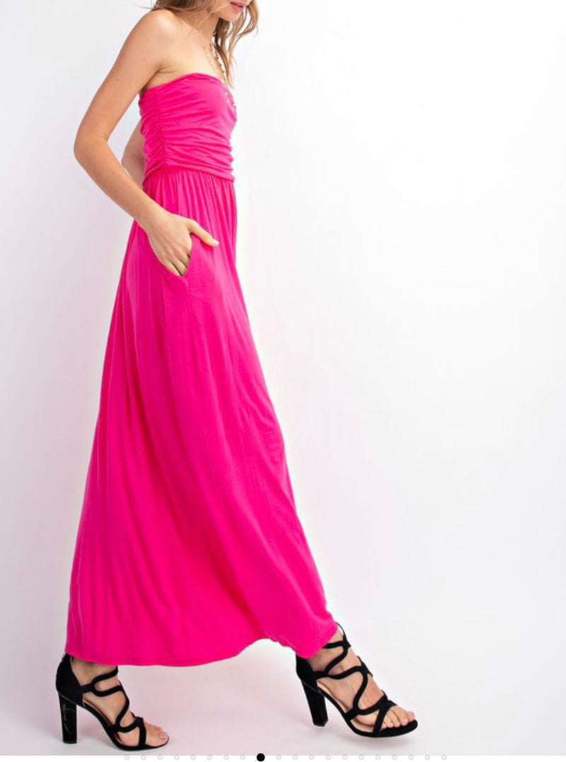 The Mindy Strapless Maxi Dress