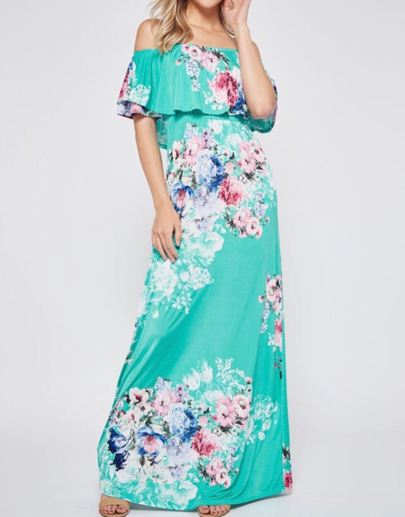 The St.Kitts Off the Shoulder Maxi