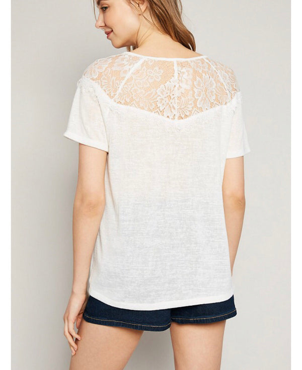 The Little White Lace Tee