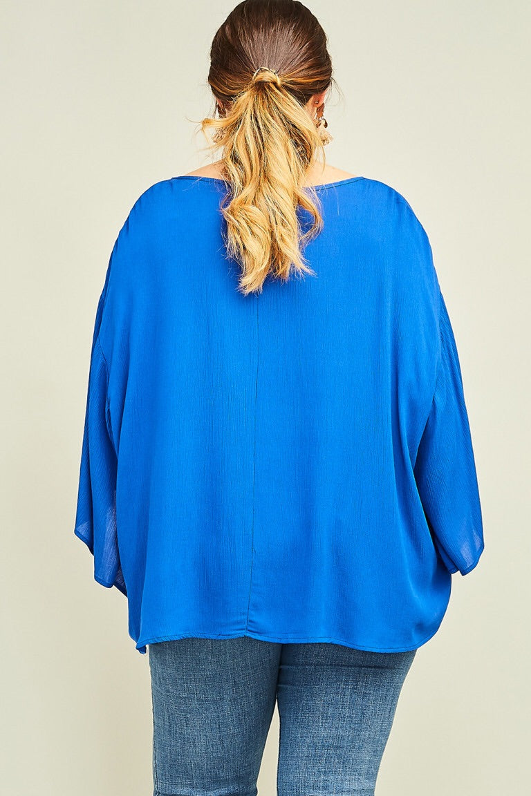The Elyse Royal Blue Top