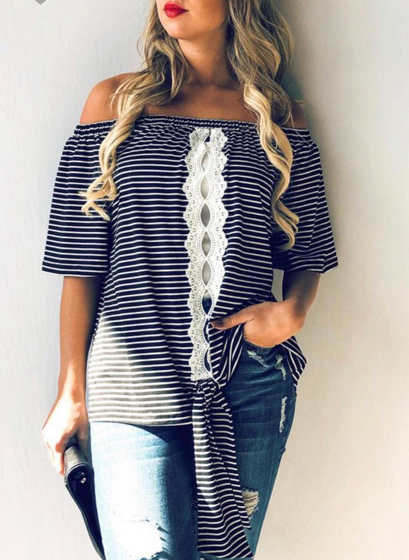 The Adena Off the Shoulder Top