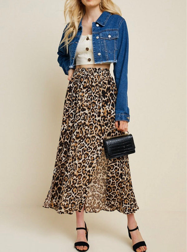 The Sheena Leopard Midi Skirt