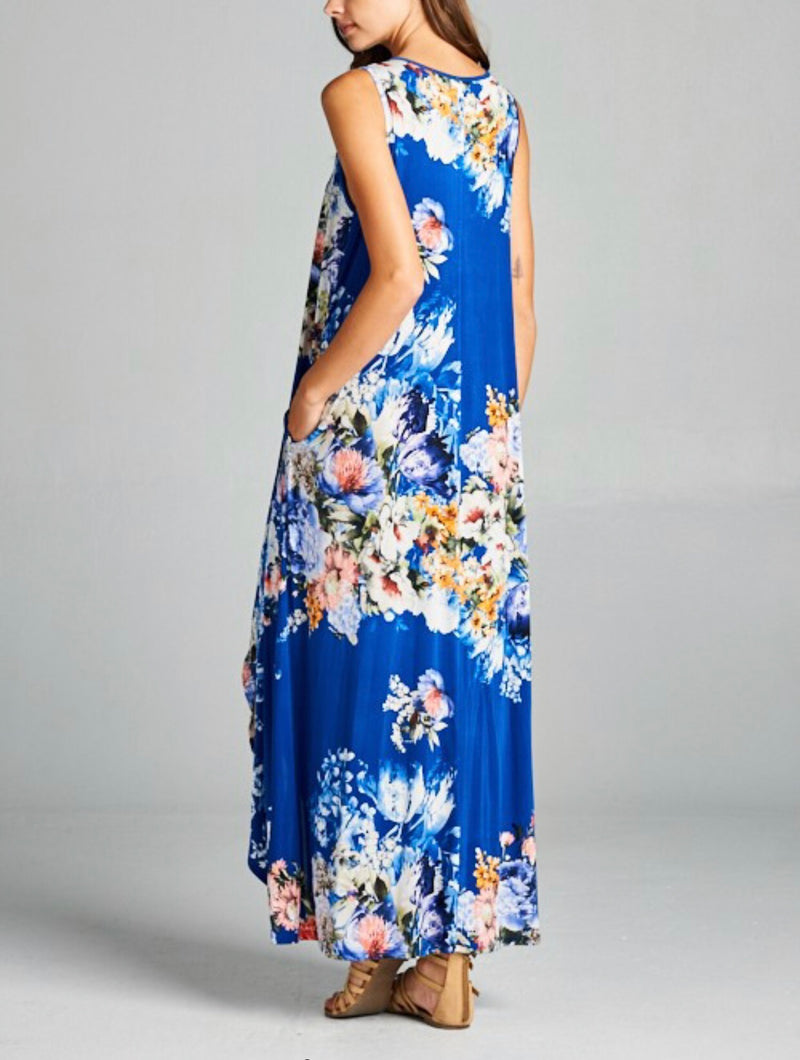 The Floral French Island Maxi Dress