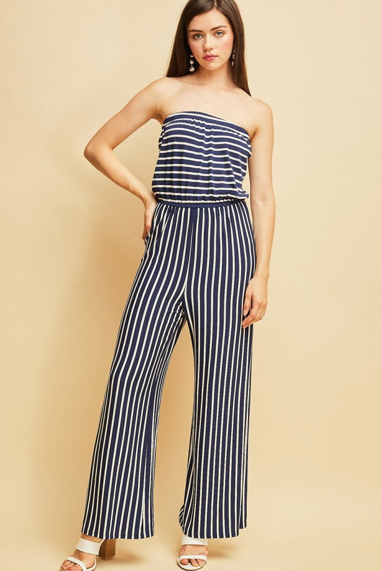 The Sophie Striped Jumpsuit