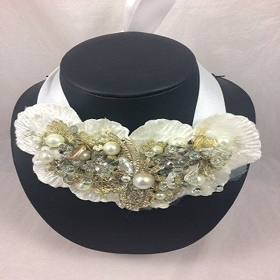 'Cosmo Ivory'  Beaded Collar
