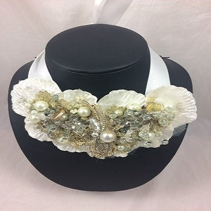 Sale 'Cosmo Ivory'  Beaded Collar