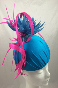 Turquoise and Cerise Star Dome