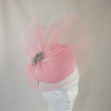 Pink Button Headpiece