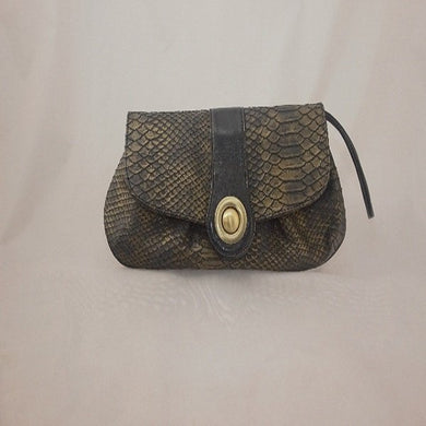 Leather Bag - Gold/Slight Green Hue