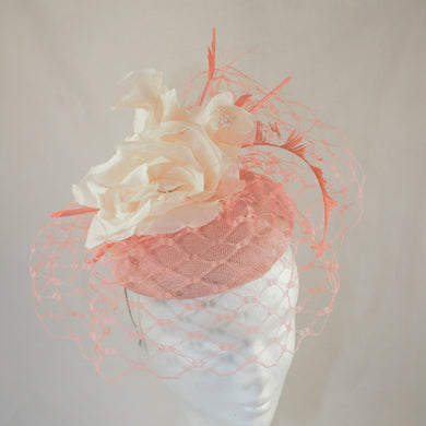 Peach and Cream Headpiece