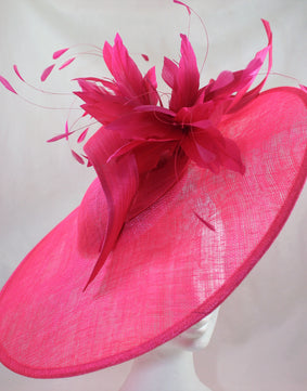 Sale Cerise Wide Brimmed Hat