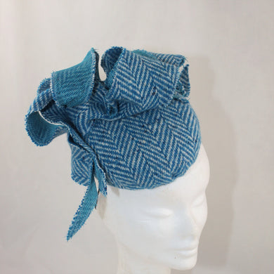 Sale Turquoise Tweed Headpiece
