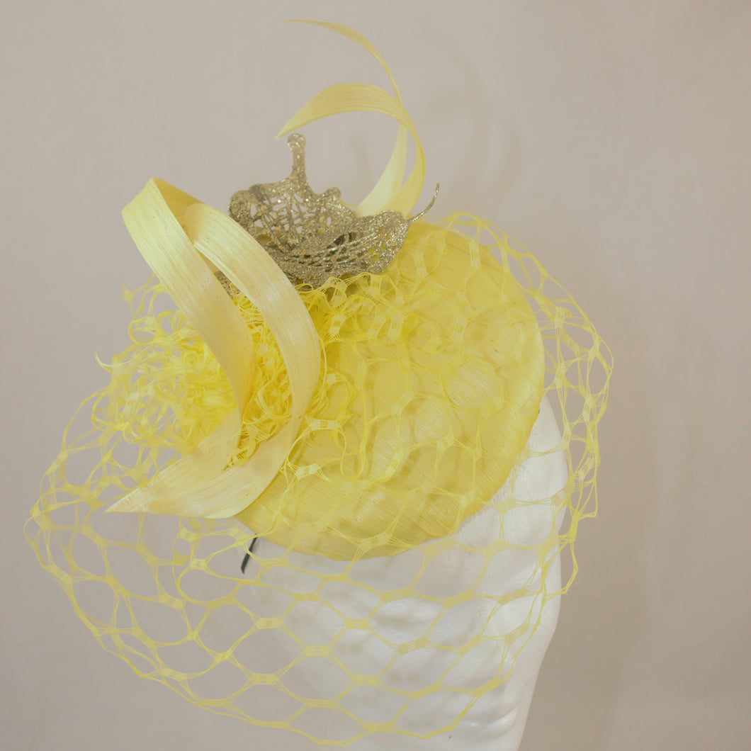 'Rhonda' Silk Swirl Hat - Yellow