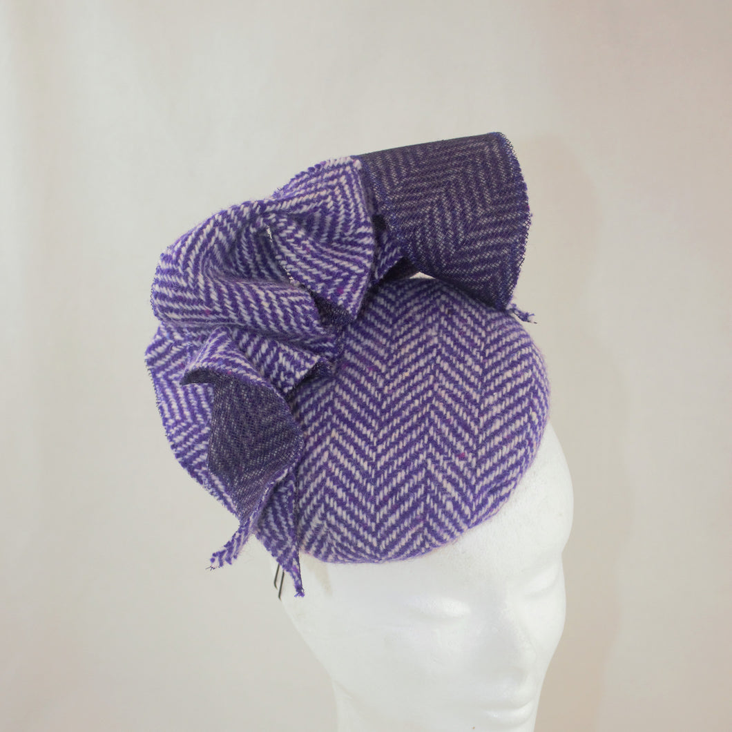 Purple Tweed Headpiece