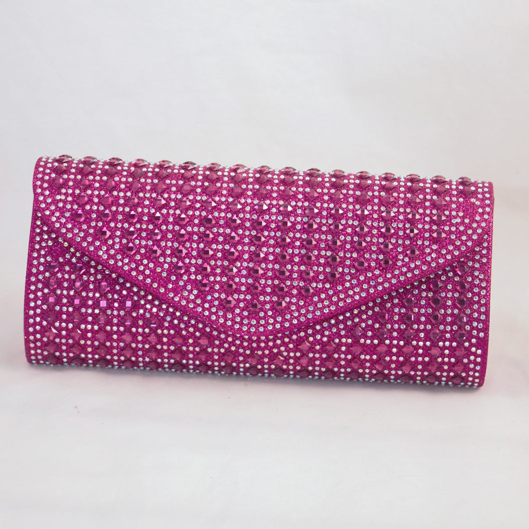 Pink Beaded Clutch