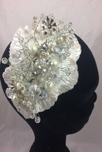 Load image into Gallery viewer, SALE  Charlotte Ivory/Silver  Beaded Headpiece