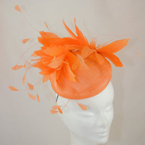 Orange Button Headpiece