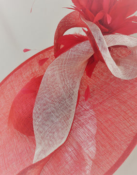 SALE  Red Wide Brimmed Hat