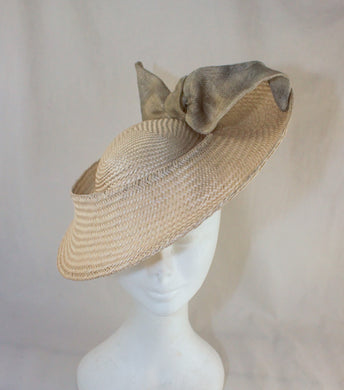 Suzie Buntal Hat Cream with Metallic Trim