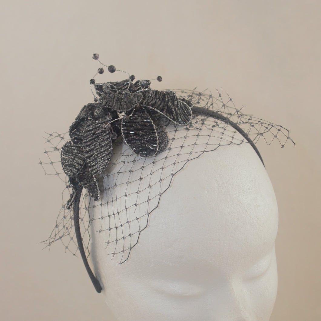 SALE  Cocktail Beaded Headpiece