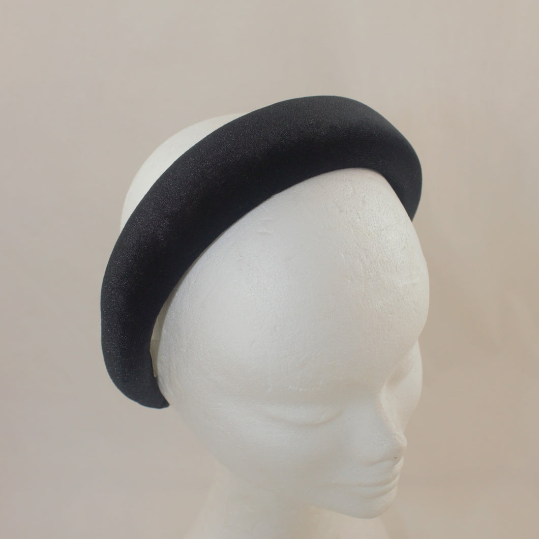 Black Wide Velvet Headband