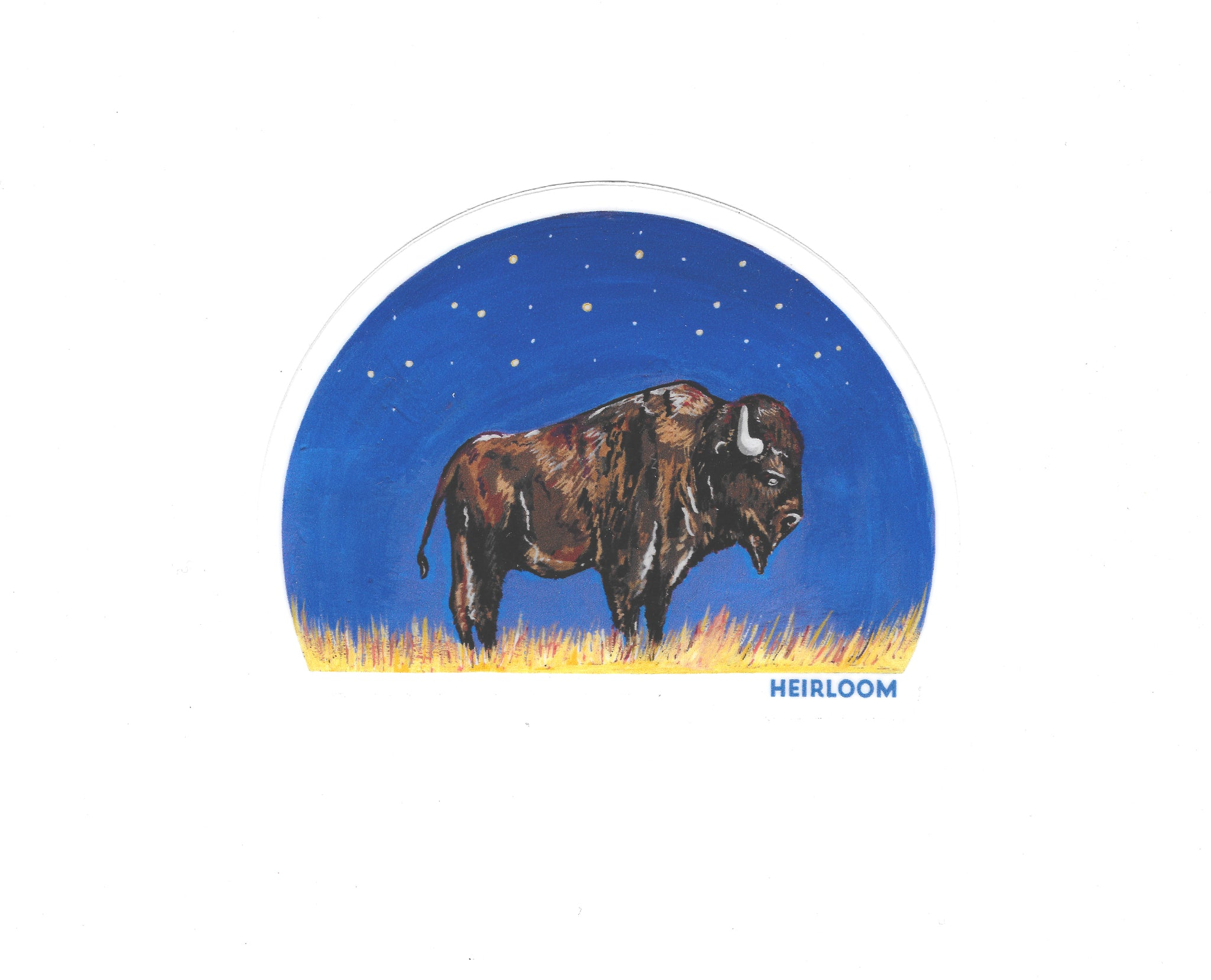 Bison Night Sky Vinyl Sticker