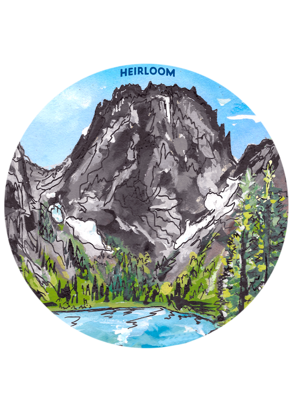 Colchuck Lake Sticker | Leavenworth, Washington Vinyl Decal