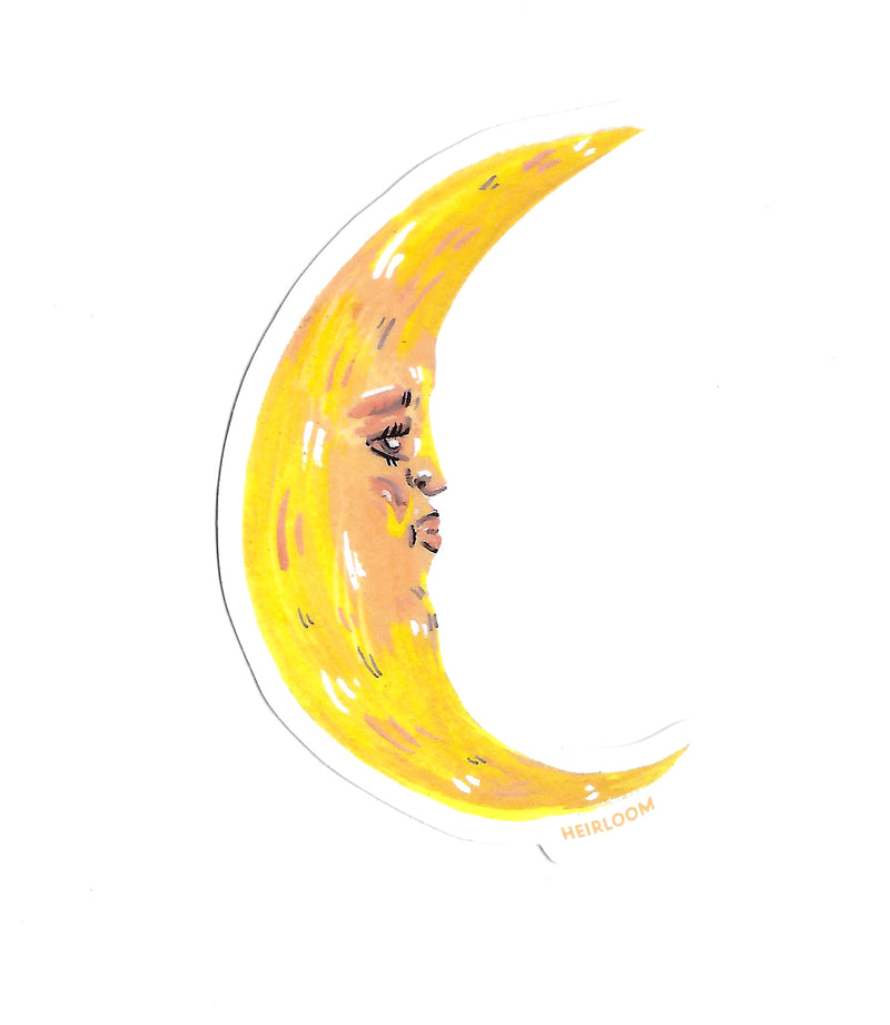 Crescent Moon Sticker | Art Decal