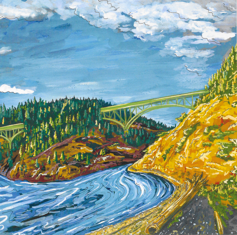 "Deception Pass 8"" x 8"" Art Print"