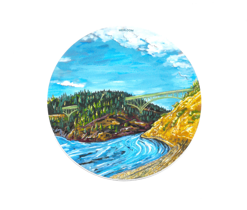 Deception Pass, WA Sticker | Art Decal