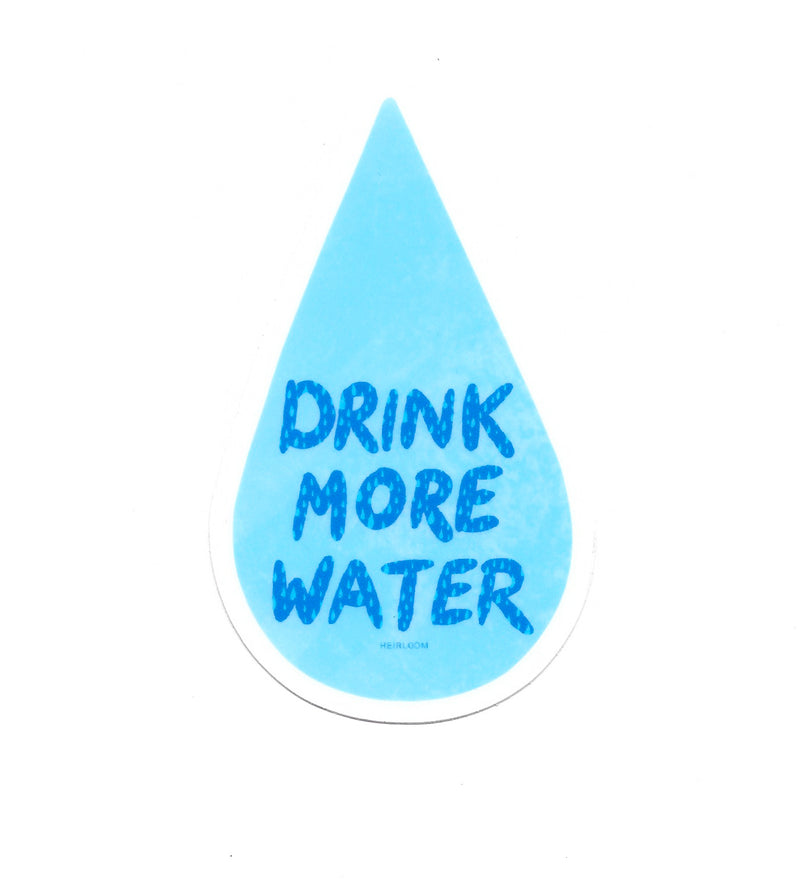 Drink More Water Sticker | Water Drop Art Decal