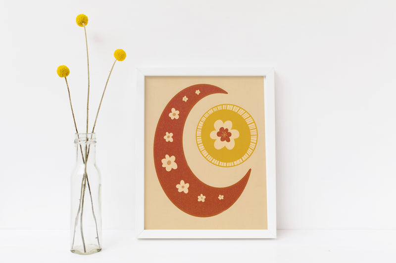"Flower Moon 8"" x 10"" Art Print"