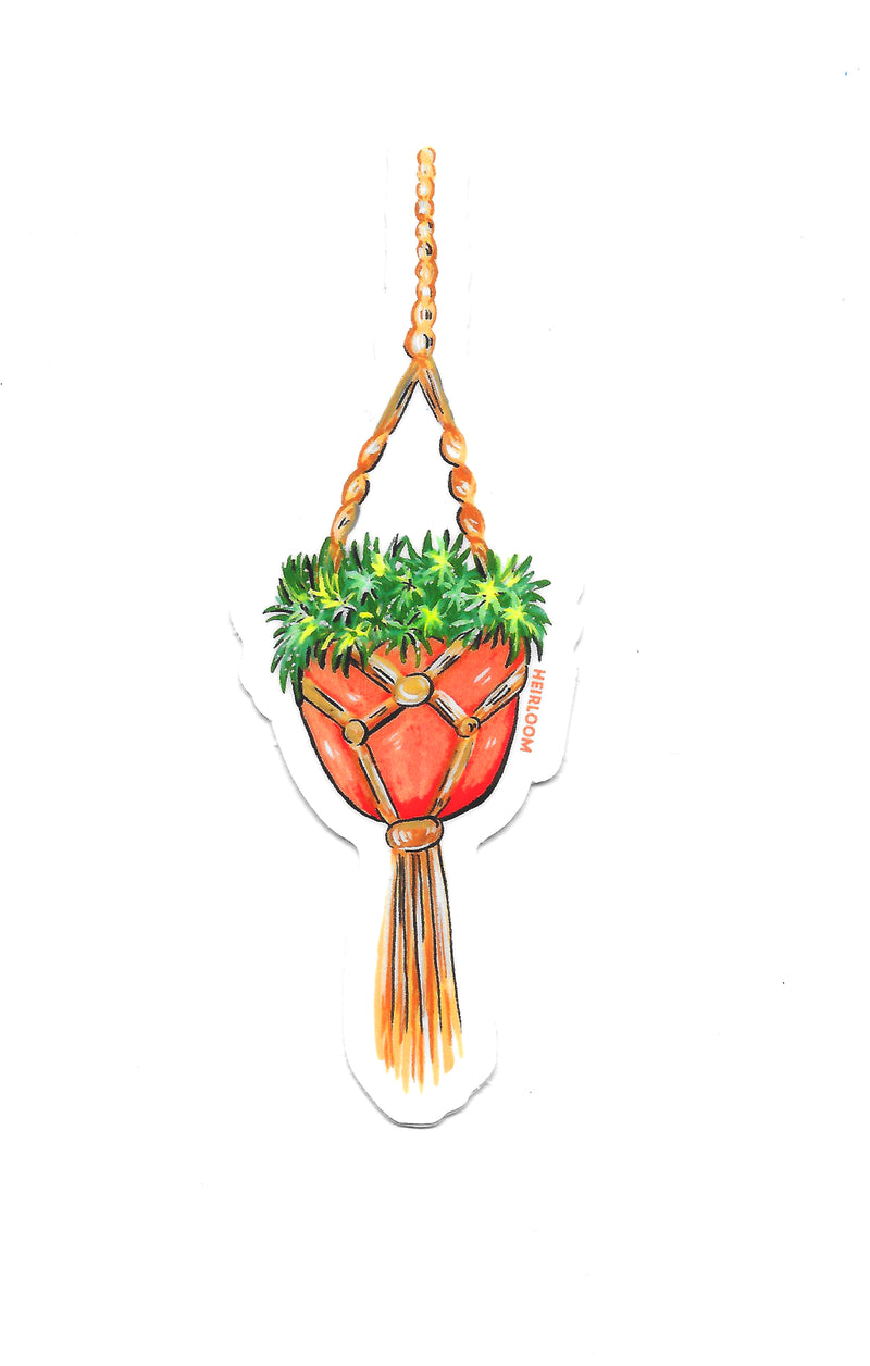 Hanging Succulent Pot Sticker | Vinyl Art Decal