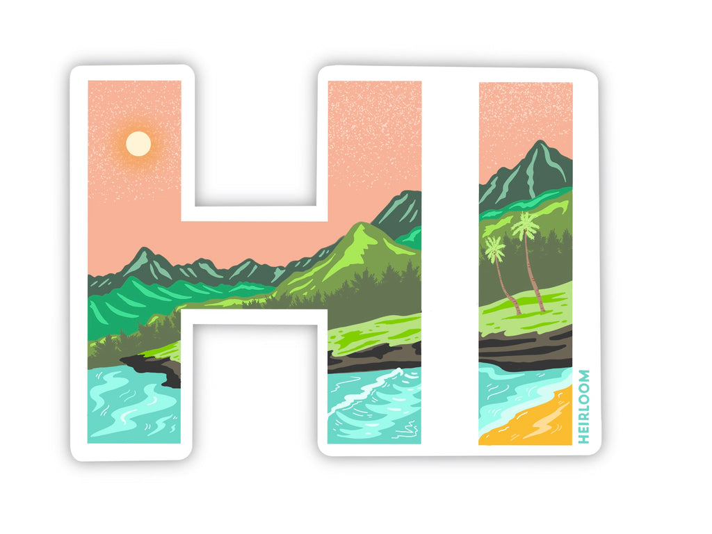 Hawaii HI State Sticker