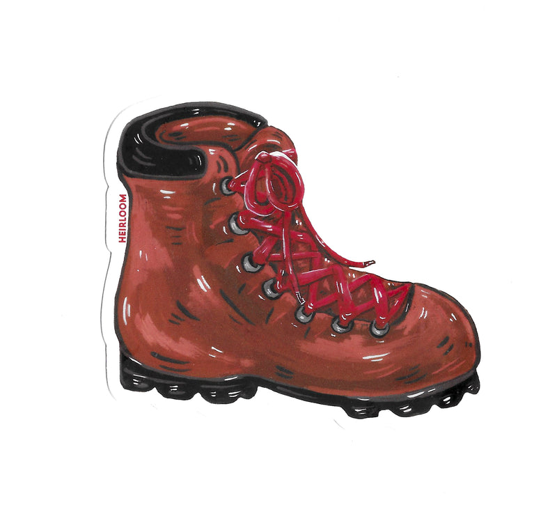 Hiking Boot Sticker | Art Decal