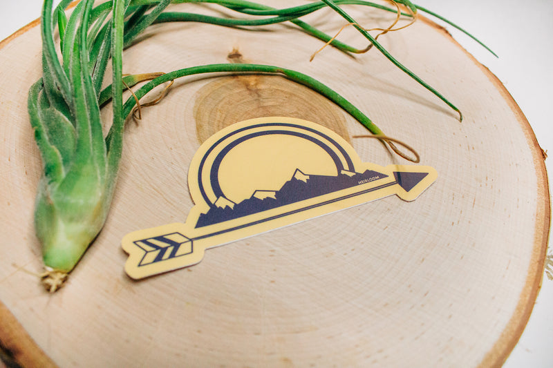 Mountain Arrow - Navy and Gold Sticker