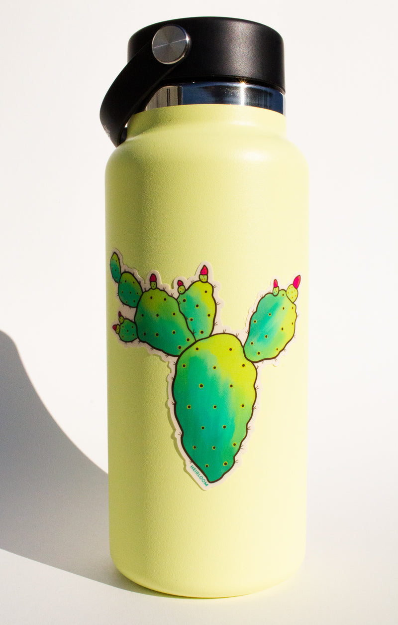 Prickly Pear Cactus Sticker